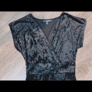 Black velvet jumpsuit size small